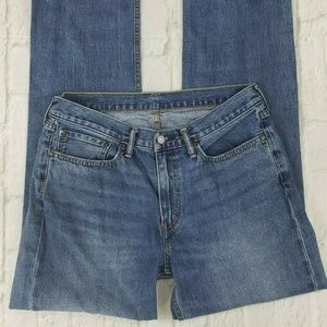 Levis Mens Size 34 x 34 Relaxed Straight Leg Jeans